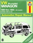 Vw Air Cooled Vanagon (Air-Cooled. 1980...